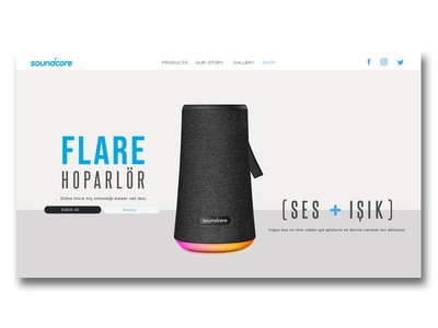 soundcore landing page example