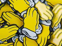 Praying Hands Enamel Pin