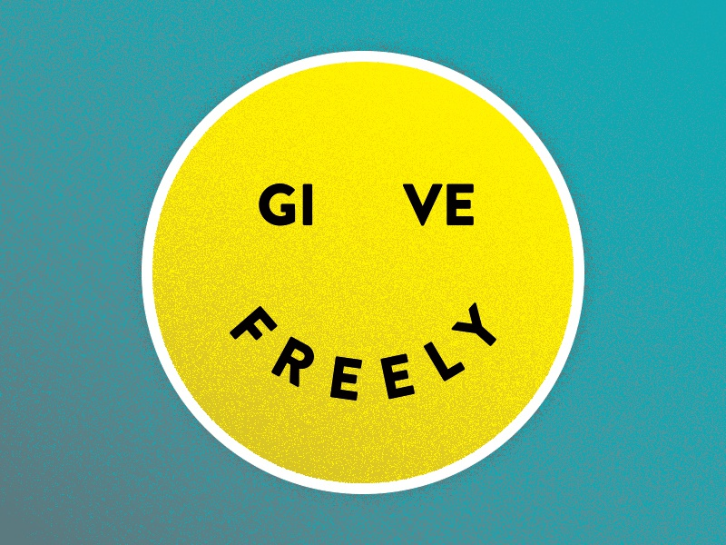 Give Freely sticker texture give freely giving give happy face sticker mule