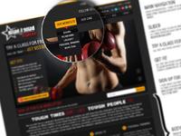 Pound4Pound Homepage Design