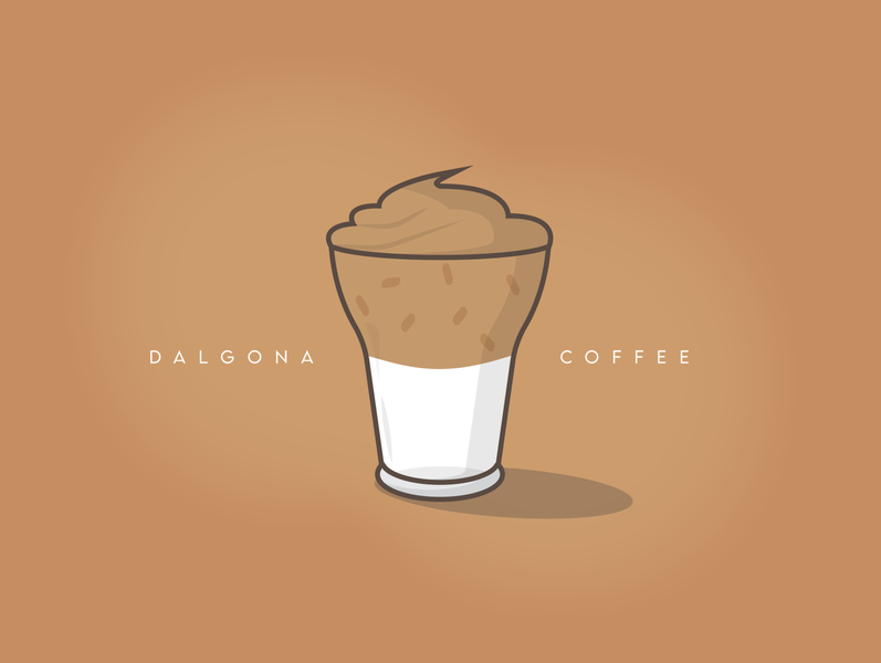 Dalgona Coffee - illustration