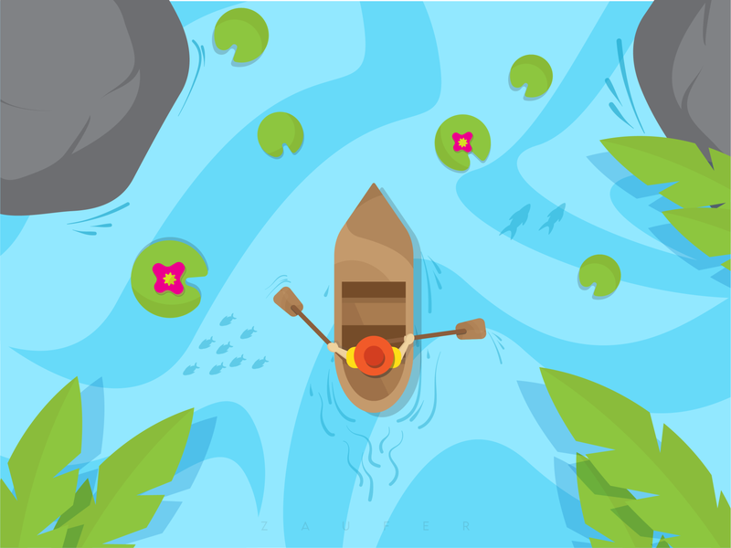 The Boatman - Illustration