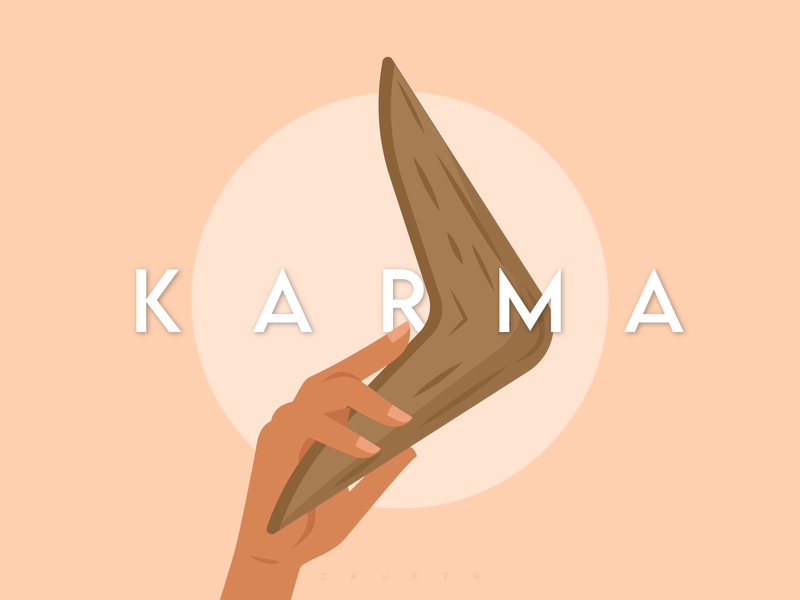 Karma is a Boomerang instagram dribbble karmacracy karma leisure design inspiration dribbble shot flat creative design illustrator vector illustration adobe illustrator design