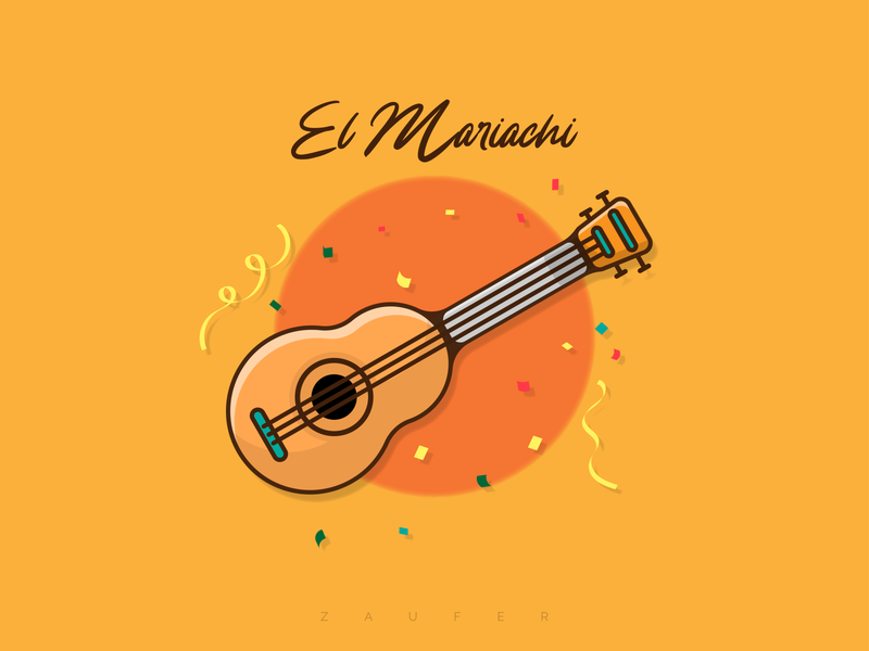 El Mariachi dribbble dribbble shot music mariachi mexico guitar design inspiration design of the day ux creative design illustrator vector illustration adobe illustrator design