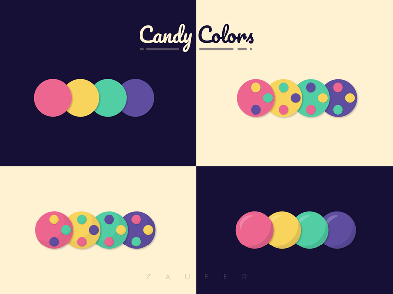 Candy Colors! colorswatch adobexd 2d flat designs candy branding logo color palette colorscheme colors design of the day ux illustrator vector illustration adobe illustrator design