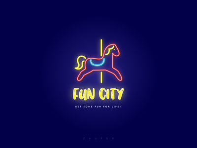 Fun city - Amusement park weeklywarmup minimal icon logo typography ux illustrator vector adobe illustrator illustration design