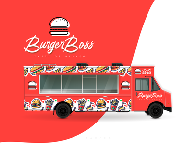 Burger Boss - Weekly Warmup burger weekly warm-up weeklywarmup foodtruck food logo minimal creative design flat branding illustrator vector adobe illustrator illustration design