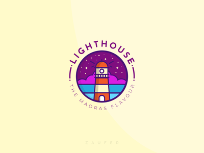 Light House - The Madras Flavour lighthouse chennai designer flat chennai madras minimal logo icon ux illustrator vector adobe illustrator illustration design