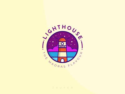Light House - The Madras Flavour lighthouse chennai designer flat chennai madras minimal logo icon ux illustrator vector adobe illustrator illustration design