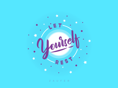 Let yourself rest!! - Working Wednesday blue typeface minimal creative design typography flat ux illustrator vector adobe illustrator illustration design
