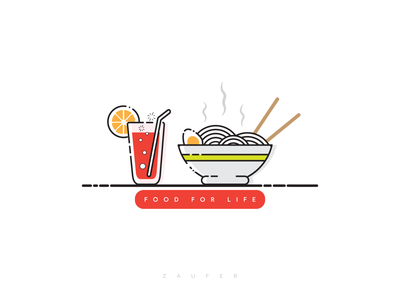 Food for Life food illustration food and drink food design inspiration logo icon minimal flat branding illustrator vector adobe illustrator illustration design
