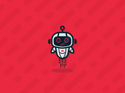 THE BOT robot design inspiration minimal flat branding ux illustrator vector adobe illustrator illustration design