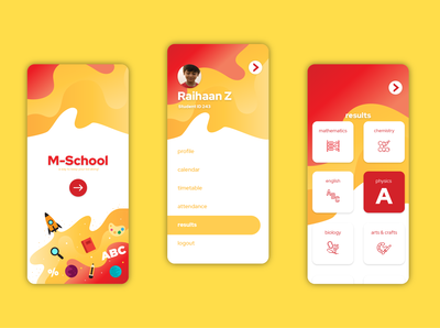 M-School App Mock Up Design