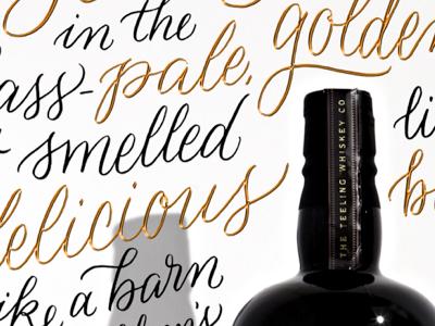 Whiskey Lettering brush lettering calligraphy lettering wine cursive script whiskey