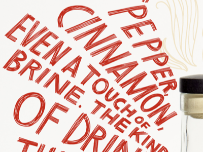 Scratchy Lettering for the WSJ wsj sotol whiskey script cursive wine lettering calligraphy brush lettering