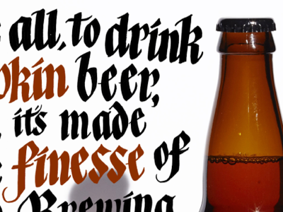 Screen Shot 2015 10 20 At 5.28.38 Pm hand lettering lettering editorial beer gothic blackletter calligraphy broad edge