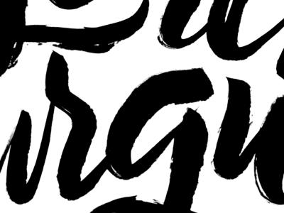 Brush Lettering calligraphy script lettering pentel brush lettering