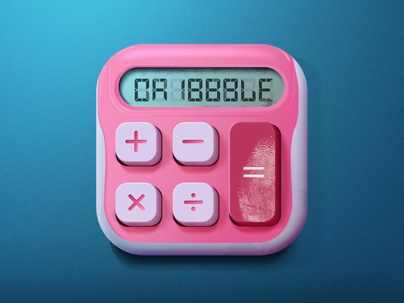 Calculator Icon retro icon calculator