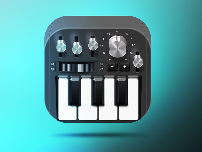 Music App Icon app icon ui music syntezator piano ios android
