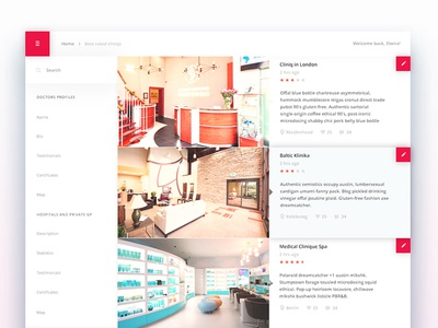 Medical Site - Concept iteration