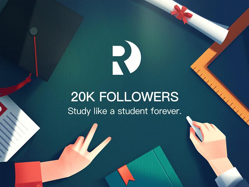 20k Followers! graduation chalk blackboard student illustration followers 20k