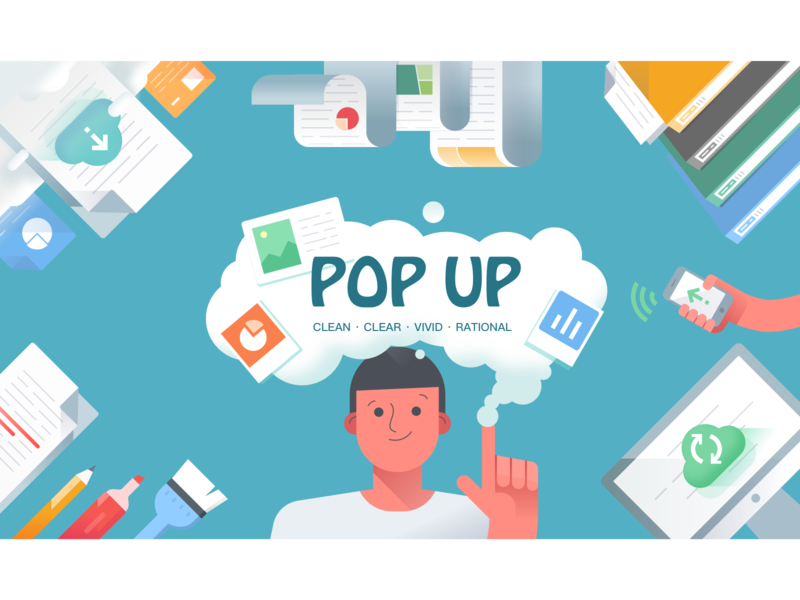Popup2 file dialog graphic ui character illustration