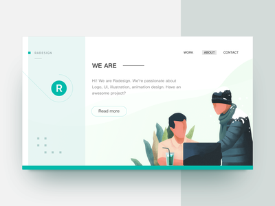 Homepage  Design character ui graphic illustration homepage site web