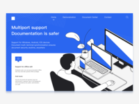 Multiport suport web ui graphic illustration