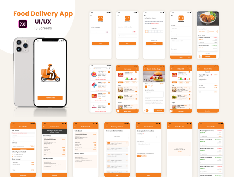 Food Delivery- Full App Concept
