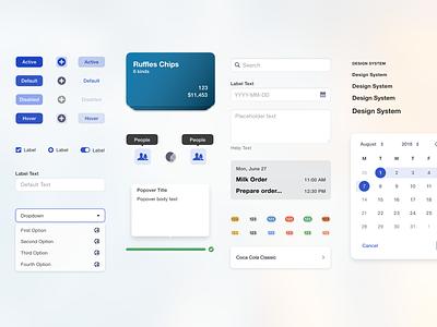 Design system for a gas station dashboard design system design cards web interface ui