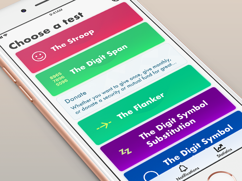 Test App test ux ui iphone ios cards app