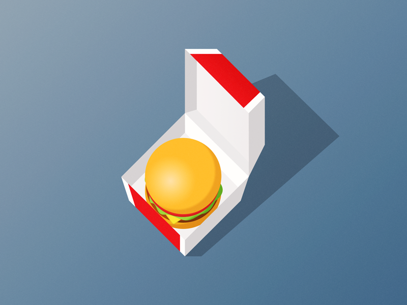 Big Mac Icon fastfood food bigmac mcdonalds illustration icon