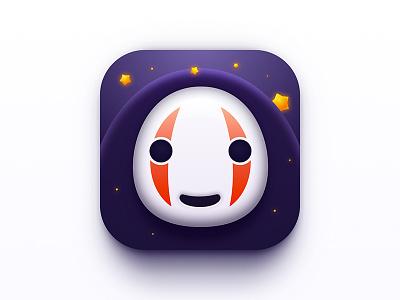 NoFace Man icon nofaceman spiritedaway japan cute lovely dark star flash face