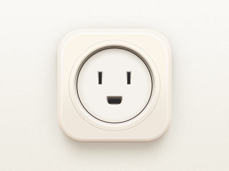 Socket icon dribbble electrical face smile lightcolor cute illustrator photoshop socket