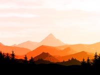 Mountain range Background / Wallpaper