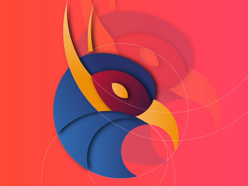 Bird logo with golden Ratio vector design golden ratio logo bird logo with golden ratio bird logo with golden ratio golden ratio bird logo logo illustration graphic design adobe tutorials 2020 tutorials