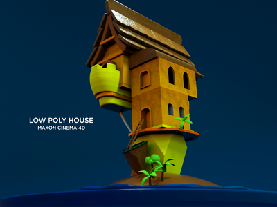 Low Poly House Cinema 4D