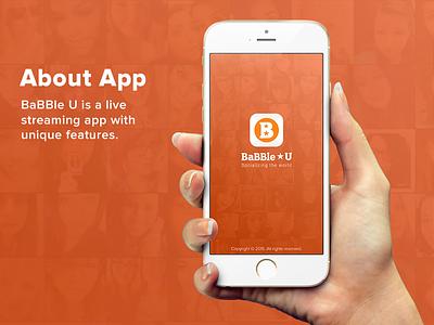 Babble U - Livestreaming App (Splash) ux ui livestream earning money chat cam live