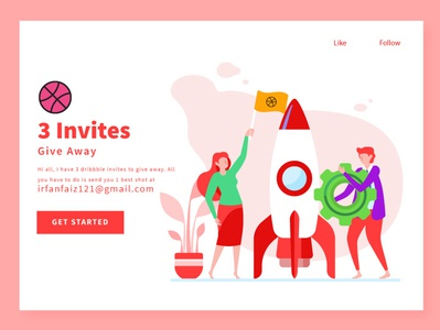 3 Dribbble Invites for New Players