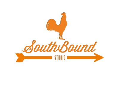 Southbound Studio One Color orange logo rooster