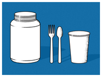 Jar, Fork, Spoon, Cup