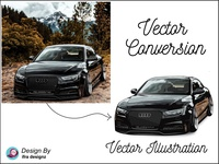Vehicle Vector Art | Car Vector Portrait- Adobe Illustrator