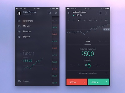 Another Trading app screens trading stock mobile forex app niky