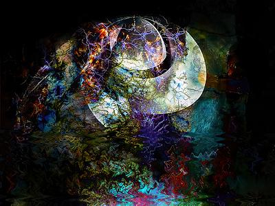 Spirale reflet 2, 13 octobre 2021 art numérique