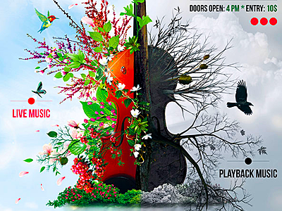 Music Facets Flyer music photomanipulation violin photo manipulation music illustration antagonism rock flyer creative flyer festival poster concert poster nature flyer amazing flyers best music posters promotion flyers