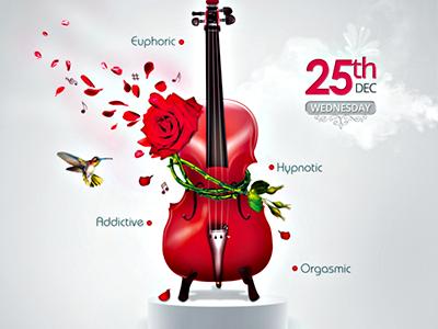 15. music aroma flyer by minkki