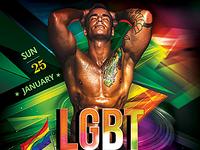 LGBT Party Flyer