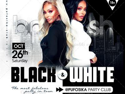 Black and White Bash Flyer