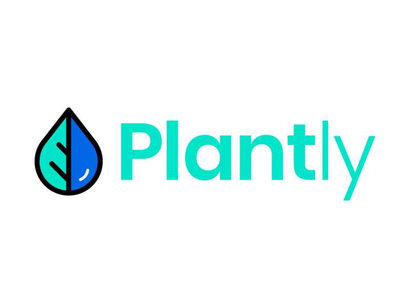 Plantly logo [app concept] watering app plant app branding and identity product design user interface design graphic designer adobe illustrator app design logo