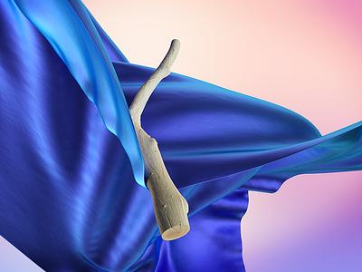 Digital fabric illustration fabric octanerender cinema4d 3d